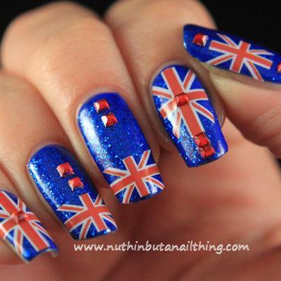 British Flag Nail Art Designs Britishflag Naildesigns