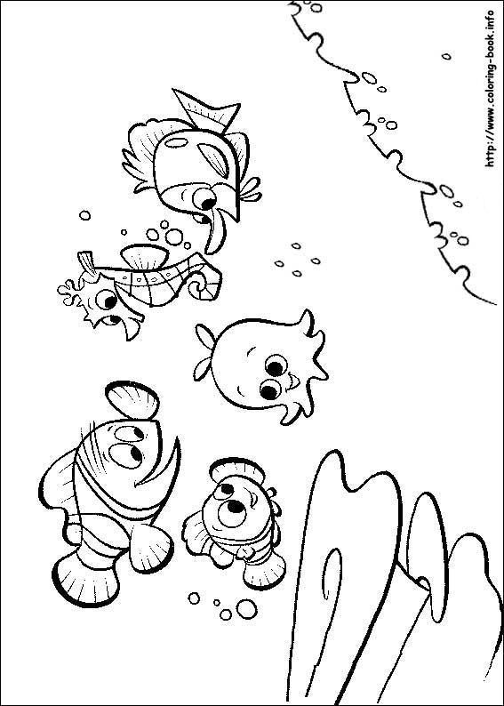 Finding Nemo coloring picture | Nemo baby shower | Pinterest ...