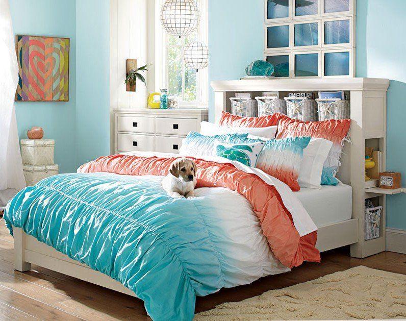 Teenage Girl Bedroom Ideas Turquoise Orange Pbteen