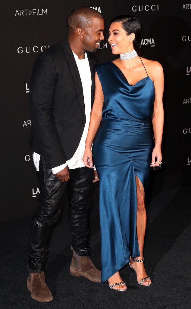 Kim Kardashian Reveals Lots Of Leg During Date Night With Kanye West Kim And Kanye Kim Kardashian Pregnant Kim Kardashian Style