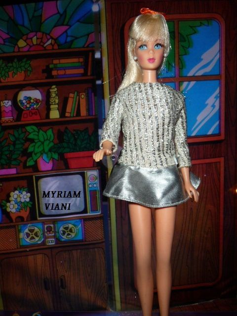 BARBIE WITH SILVER SPARKLE # 1885 année 1970 collection MYRIAM VIANI