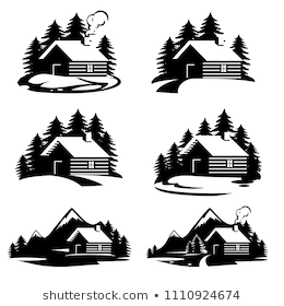 Log Cabin Woods Vector Icon Stock Vector Royalty Free 746261620 House Silhouette Line Art Vector Silhouette Clip Art