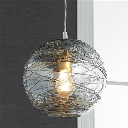 Swirling Glass Globe Pendant Light Light Patterns Dance On The Walls And  Ceiling From The Golden Bronze Swirling Twine Pattern On The Clear Glass  Globe In ...