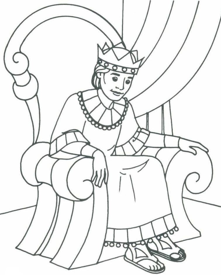 Bible David as King Coloring Pages Sunday school