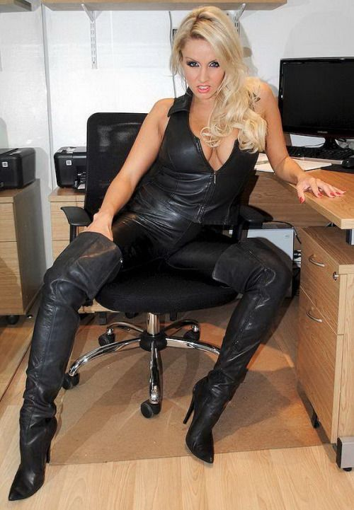 Leather clad girls