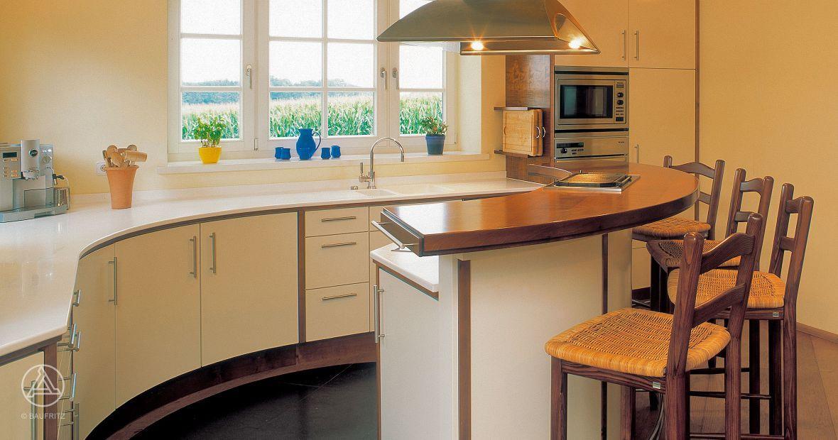 landhaus k che im typischen american style vom holzhaushersteller baufritz landhaus. Black Bedroom Furniture Sets. Home Design Ideas