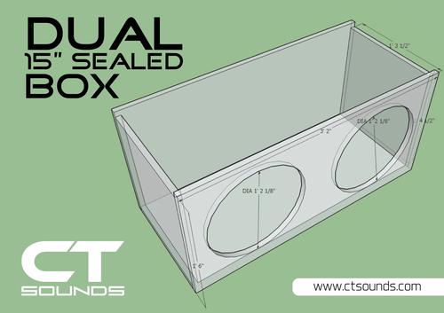 Ct Sounds Car Audio Subwoofer Box Designs For Ported And Sealed Boxes Subwoofer Box Design Box Design Subwoofer Box
