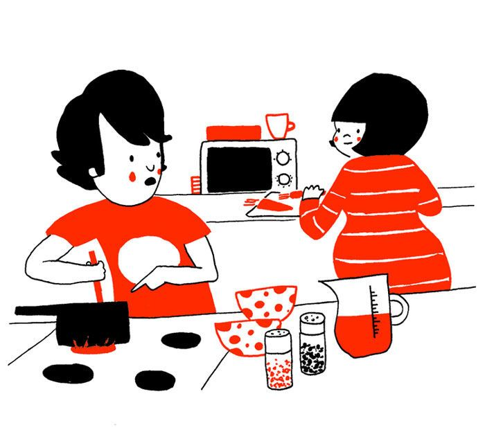 Cute Illustrations Demonstrate What True Love Really Is Rice And - Cute illustrations demonstrate what true love really is