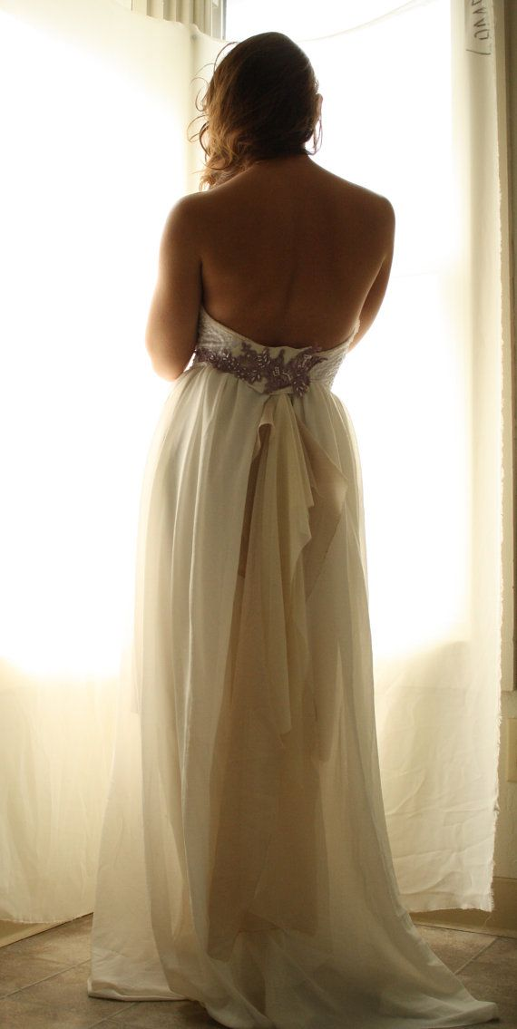 Hallows Eve- Jem Bustier Layered Chiffon Wedding Gown One Of A Kind