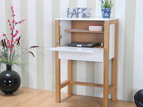 sekret r lys beistelltisch tisch kommode schrank m bel eiche hochglanz wei k che. Black Bedroom Furniture Sets. Home Design Ideas