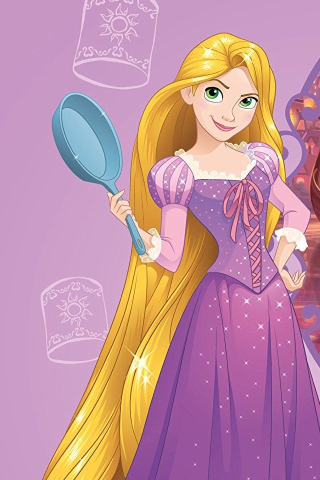 Rapunzel with her frying pan