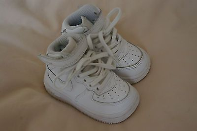 Nike airforce 1 white #leather #trainers #infant uk 4 air max huarache  converse