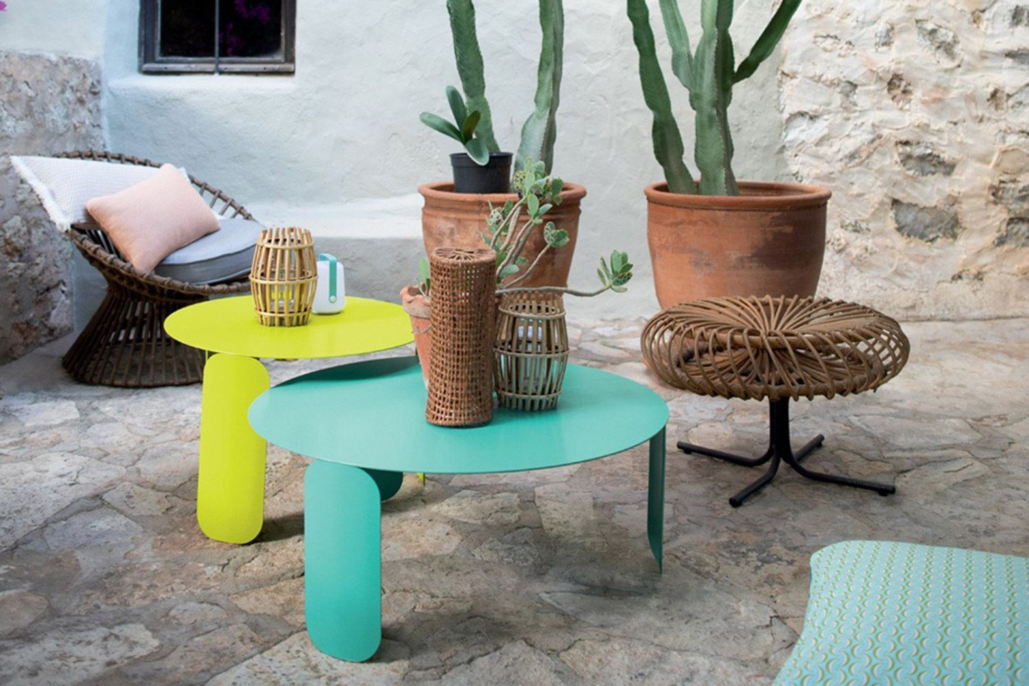 Bepop Side Tables Outdoor Coffee Tables Stylish Patio Colorful