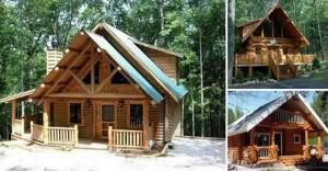 Build Your Own Log Cabin For Under 15 000 Log Cabin Plans Small Cabin Small Log Cabin