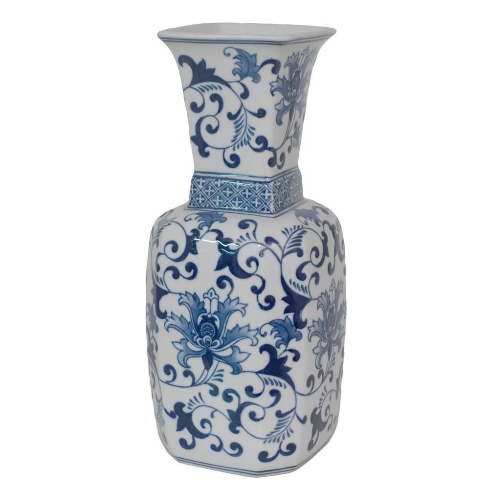The Home Depot Logo White Ceramic Vases Blue And White Vase White Vases