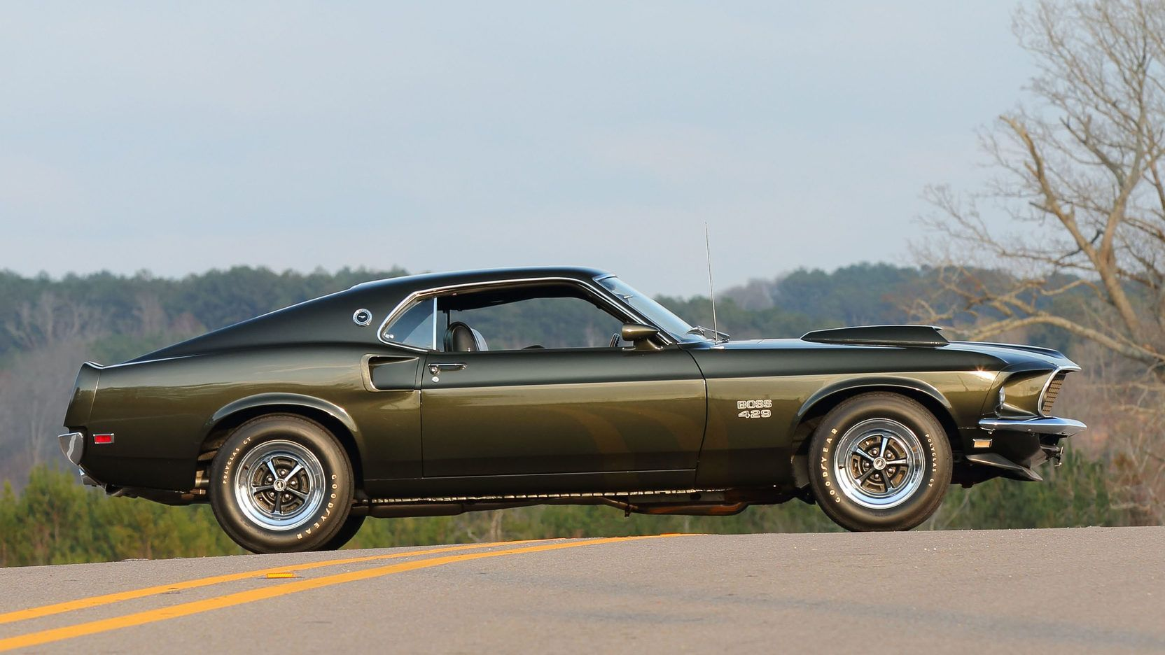 1969 ford mustang boss 429 in black jade kk 1480