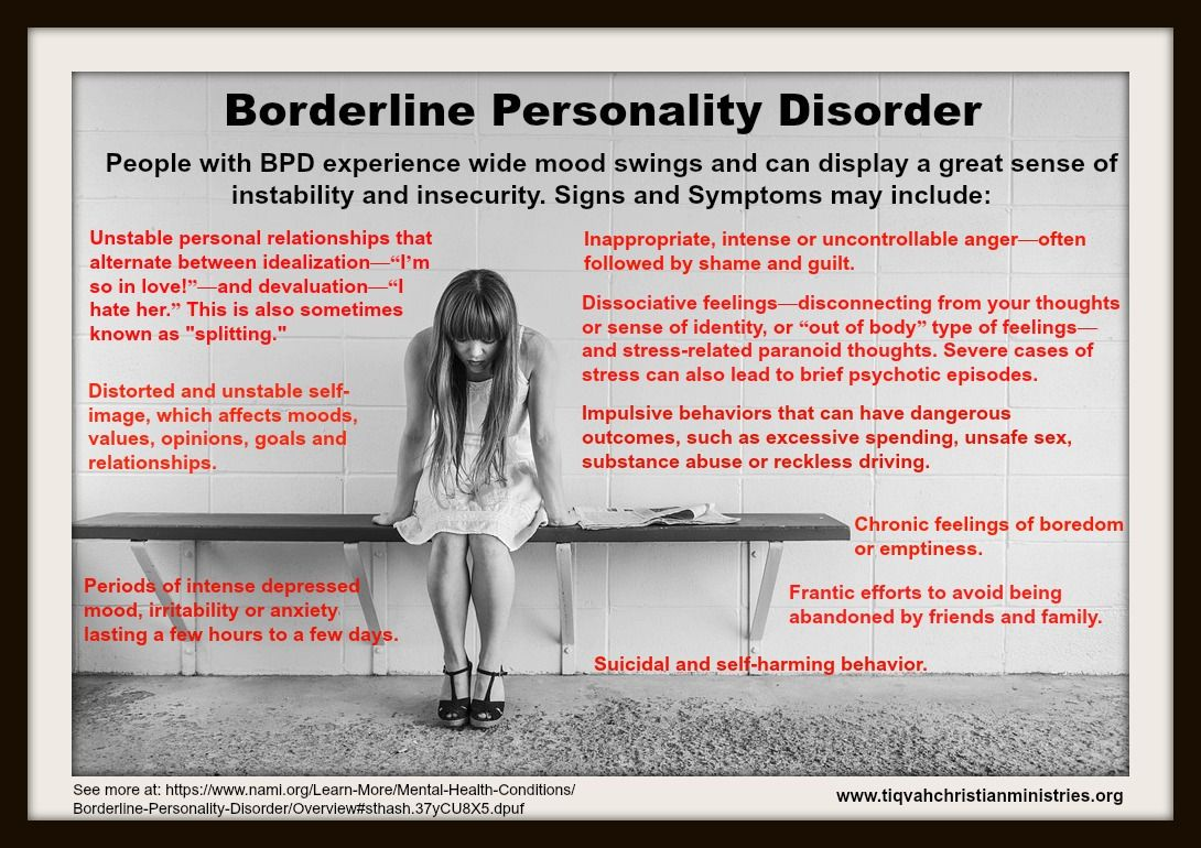 See more at: https://www.nami.org/Learn-More/Mental-Health-Conditions/Borderline-Personality-Disorder/Overview#sthash.37yCU8X5.dpuf