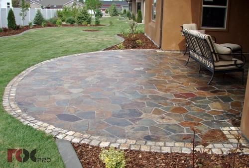 Mesh Interlocking Slate Tile. This Patio Is Similar To What Ours Will Look  Like If We Ever Get It Finished!