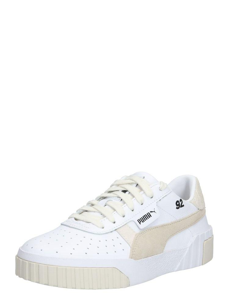 PUMA Sneaker 'Cali Lthr Suede x SG' Damen, Weiß Beige