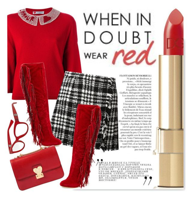 """""""When in doubt...."""" by serepunky ❤ liked on Polyvore featuring ファッション, Anja, Dolce&Gabbana, Valentino と Lauren Lorraine"""
