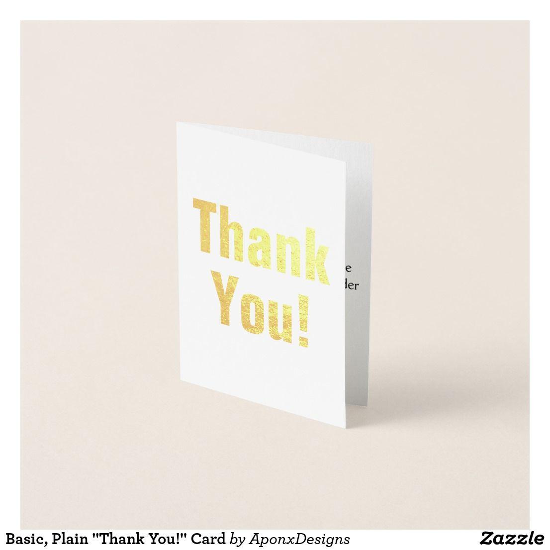 Basic Plain Thank You Card
