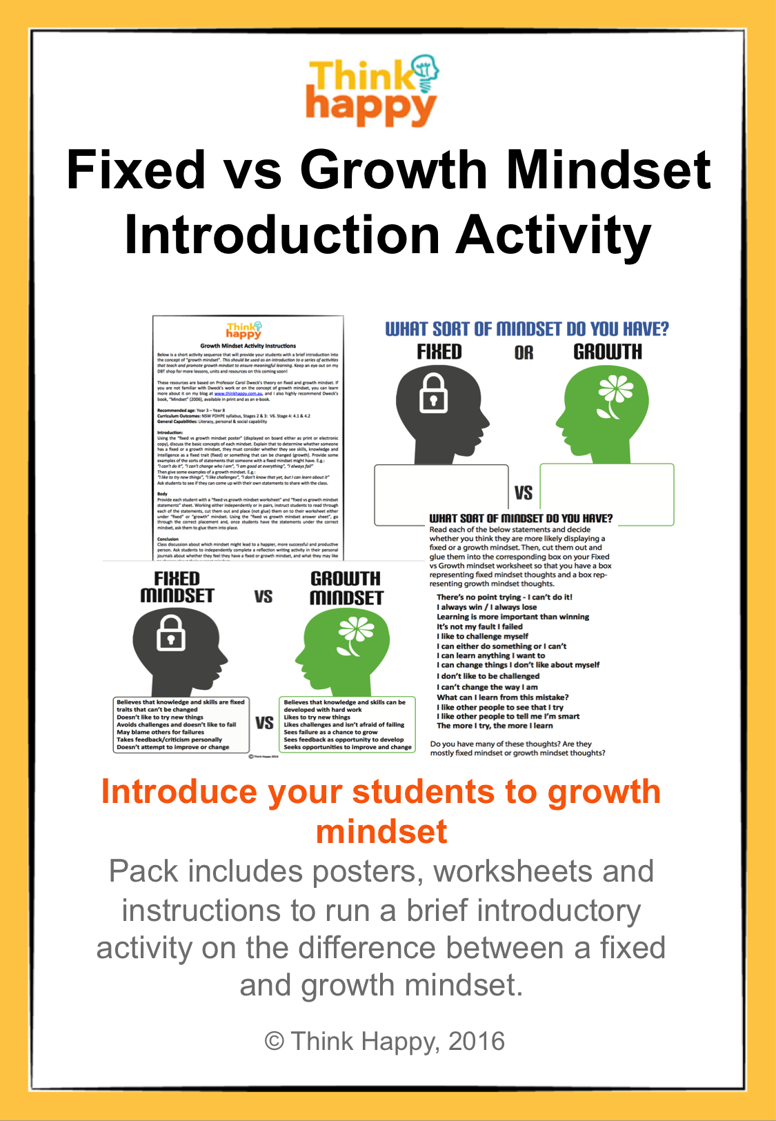 Great Short Activity To Introduce Growth Mindset To Primary Students