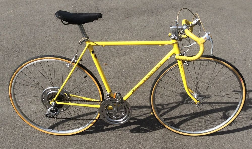 4918fa541a4 1973 Schwinn Super Sport Mens Bicycle Kool Lemon Road Handmade 10 Speed 22