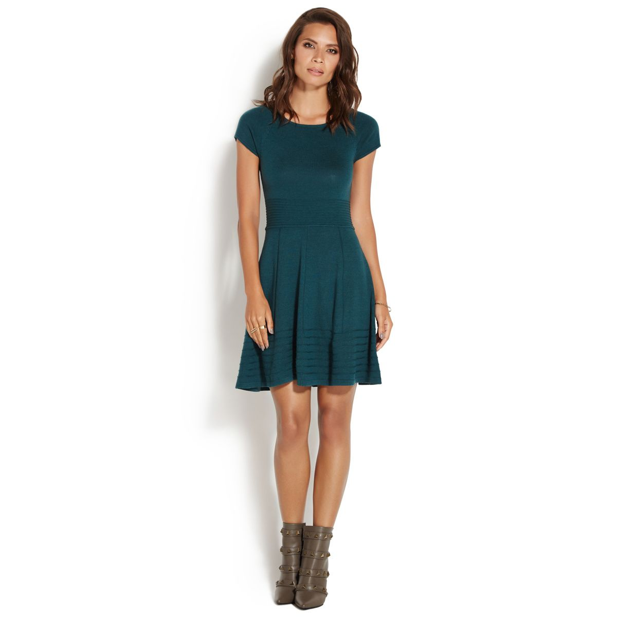 5bc01e5aa36 SWEATER FIT AND FLARE DRESS - ShoeDazzle