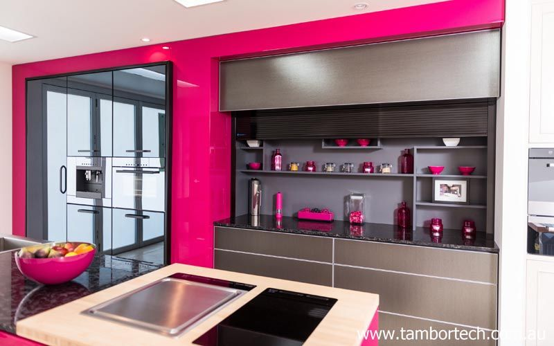 Best Beautiful Kitchen Pink Black And Grey Your Appliances 640 x 480