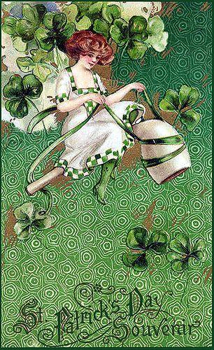 Free Vintage St Patrick S Day Erin Go Bragh Clipart Or Scrapbook Download St Patricks Day Cards St Patrick S Day Crafts Irish Cards