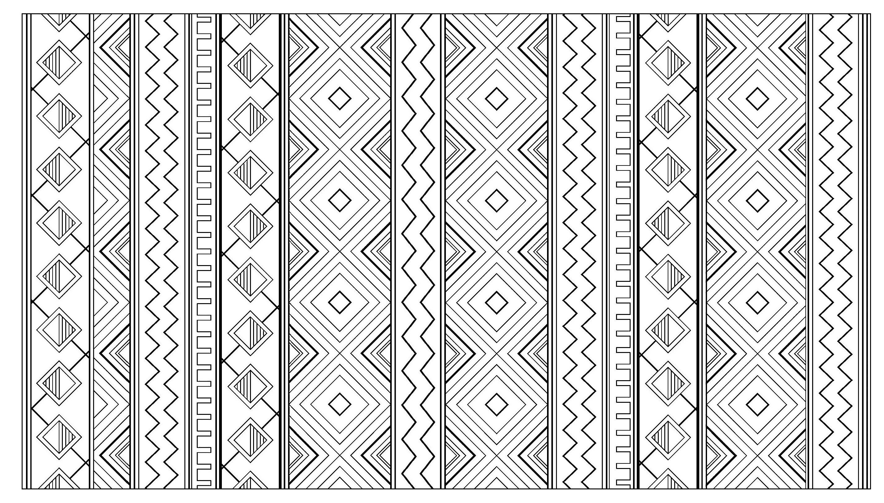 Free Coloring Page Coloring Adult Inca Aztec Mayan Pattern