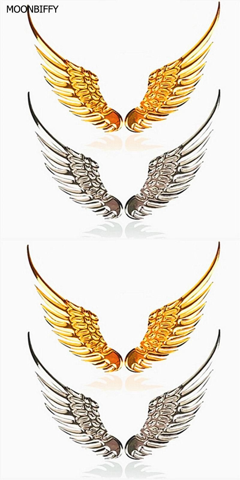 Visit To Buy 1 Pair Car Styling Fashion Metal Stickers 3d Wings Car