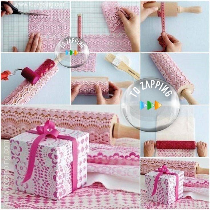 decorar cajas de cart n con encaje para realizar un
