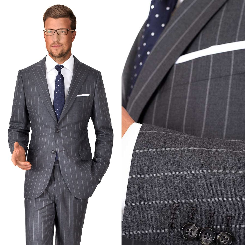 100% SUPER 150s WOOL | Woven in Italy by Vitale Barberis Canonico.