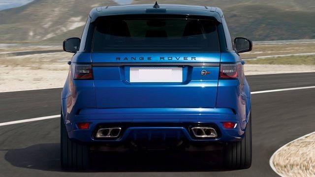 2018 Land Rover Range Rover Sport Svr Rear Range Rover Sport Range Rover Land Rover