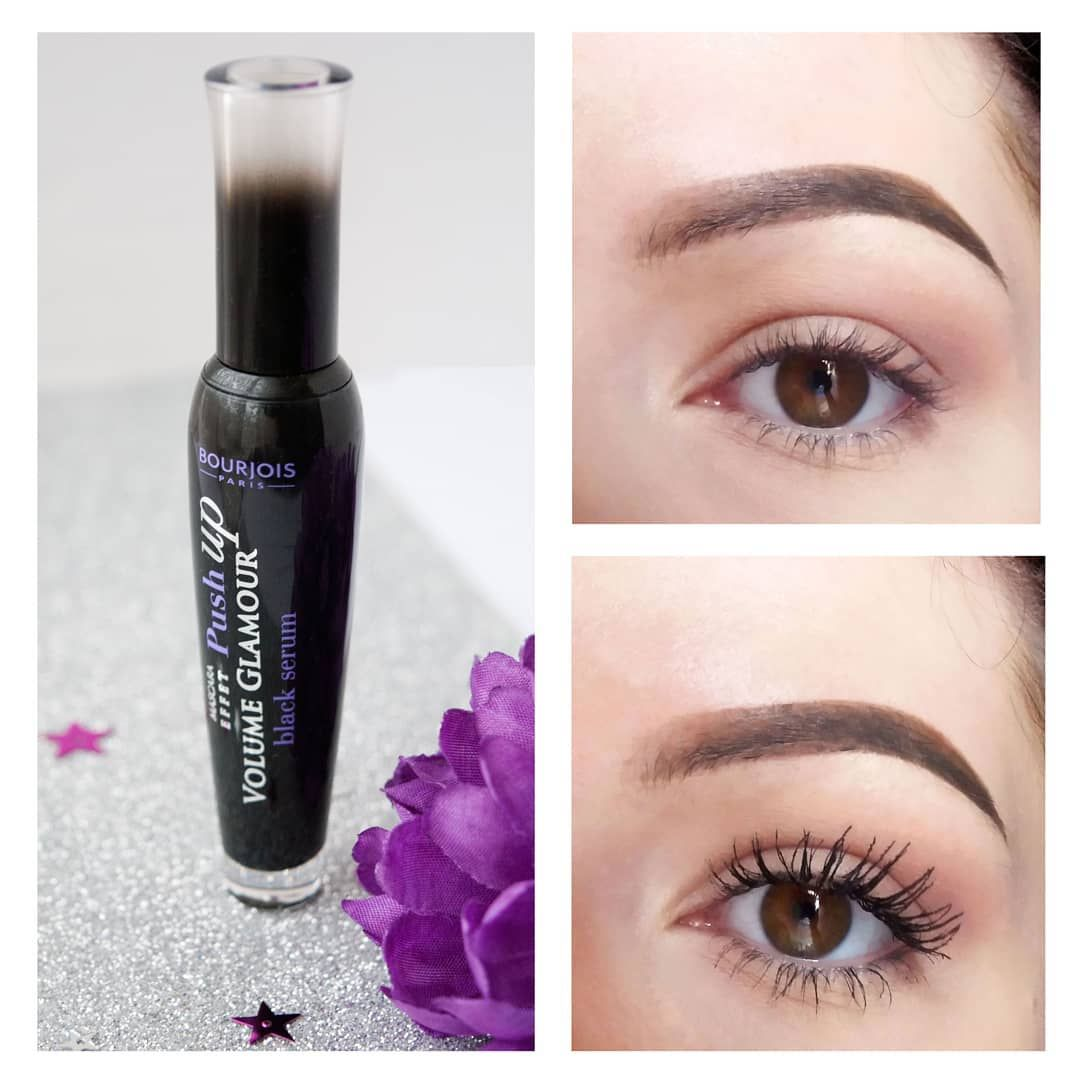 9243d1c18c6 @beautybymariann Bourjois Volume Glamour Effect Push Up Black Serum Mascara,  Before and After apply mascara