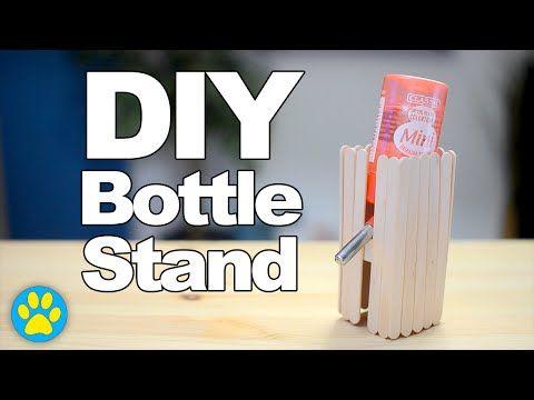 Diy Standing Water Bottle Holder By Hammy Time Youtube Hamster