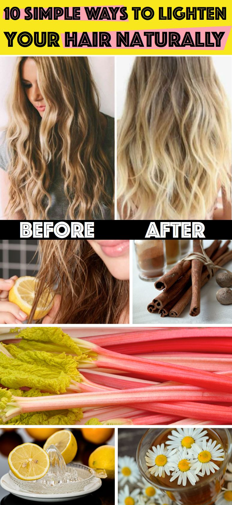 10 Amazingly Simple Ways To Lighten Your Hair Naturally Life Hacks