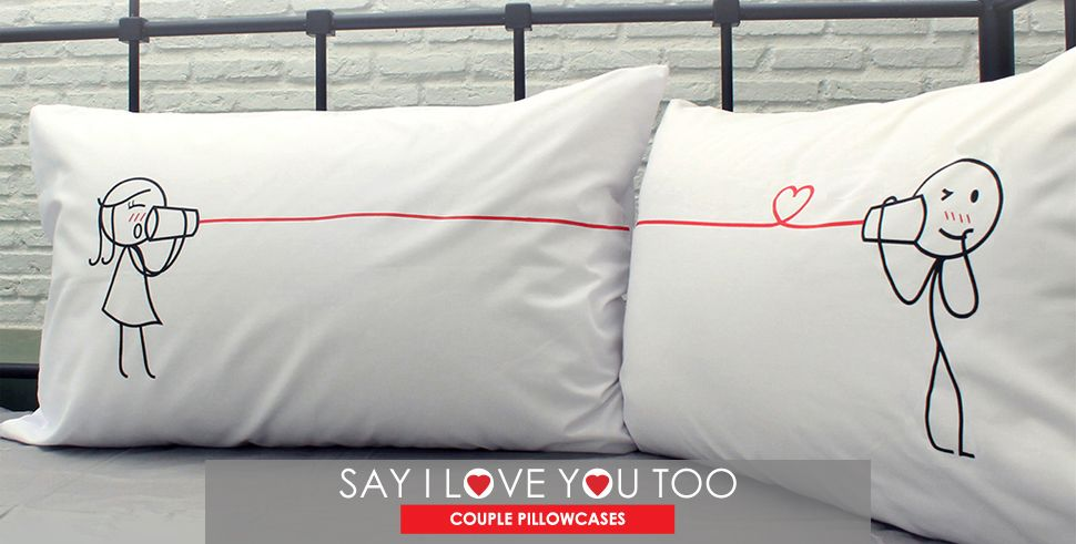 Couple Pillowcases for Him #sweetestdaygiftsforboyfriend