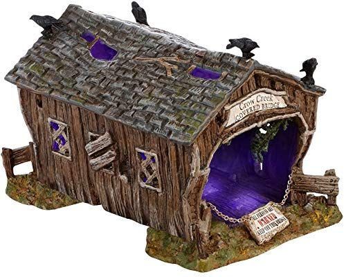 Buy Department 56 Accessories Villages Halloween Crow Creek Covered Bridge Accessory Figurine, 4.72 inch online - The108Ideashits