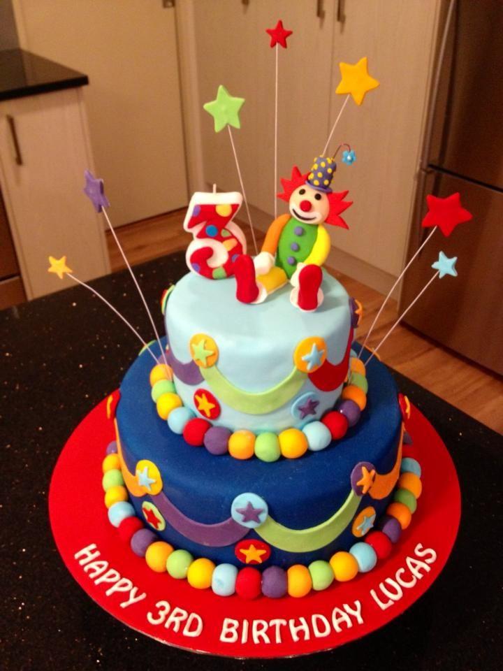 Clown Cake Anniversaire Pinterest Clown Cake Cake And Birthdays