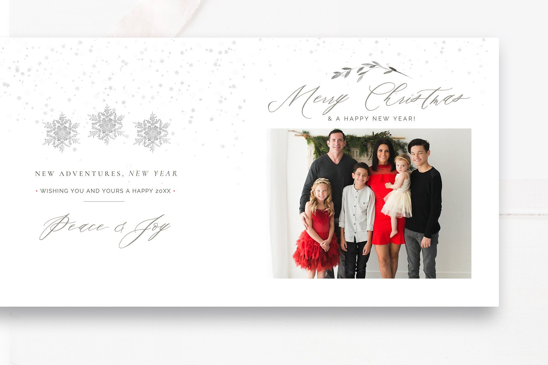 Accordion Christmas Card Template Photoshop Template By Stephanie Design Christmas Card Template Card Template Photoshop Template Design
