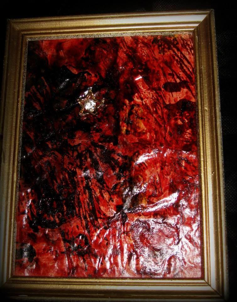 Blut-Zirkonia Menschenblut diesmal mit Zirkonia Stein ...