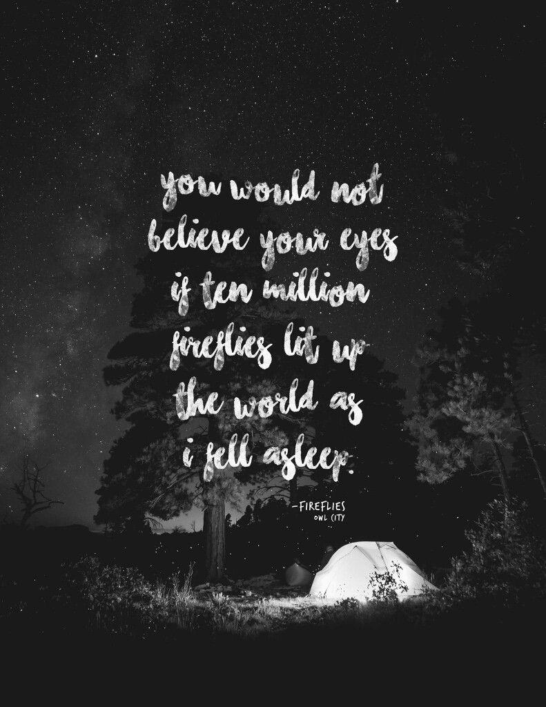 Fireflies • owlcity lyrics Owl city lyrics, Owl city