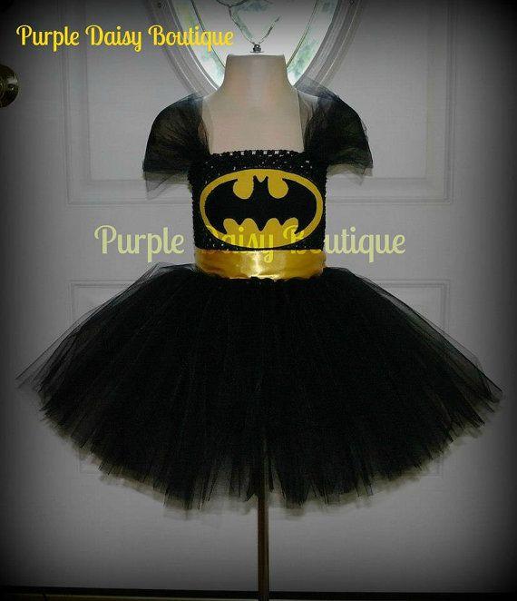 batgirl tutu dress halloween costume by purpledaisyboutique kost me pinterest. Black Bedroom Furniture Sets. Home Design Ideas