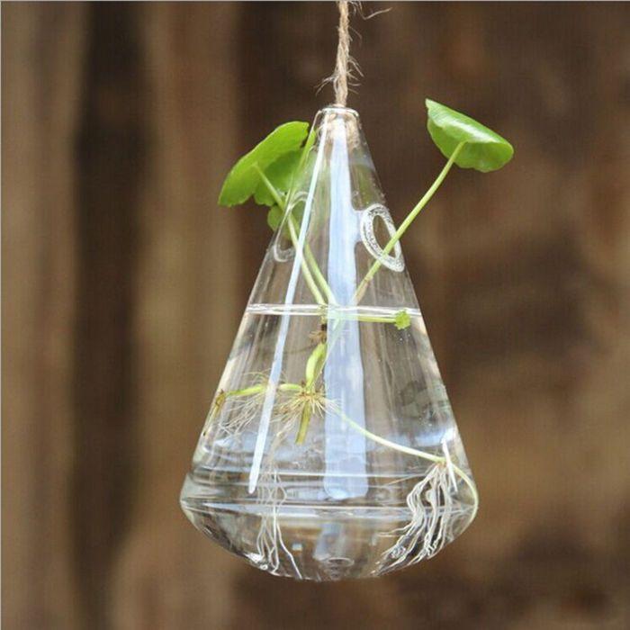 Clear Water Drop Crystal Glass Flower Vase Terrarium Hydroponics