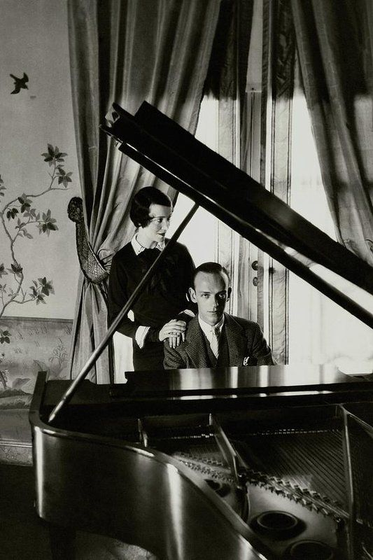 Cecil Beaton | Fred And Adele Astaire At A Piano | 1929 | (via Condé Nast)