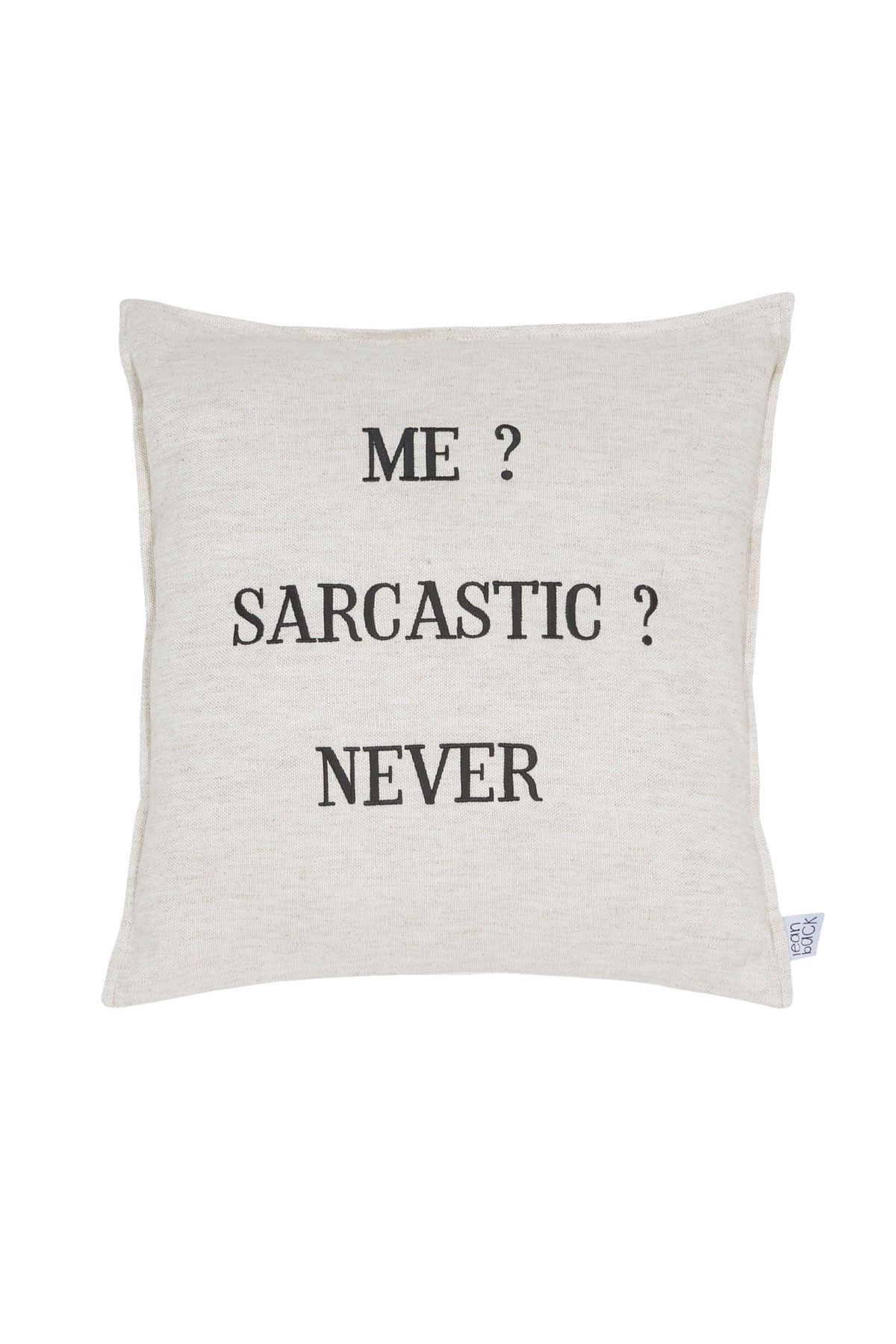 Say Something Linen - Sarcastic Pillow