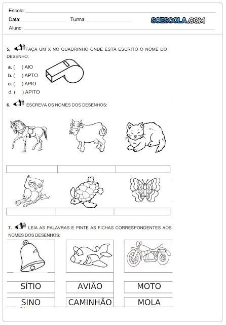 Avaliacao Diagnostica Pronta Para Imprimir Com Imagens