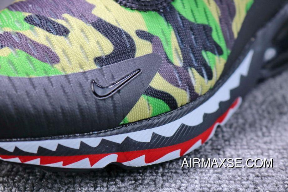 newest collection 10ada e91db Japanese Camo Bape A Bathing APE X Nike Air Max 270 Collaboration Heel Half- palm As Jogging Shoes Shark Green Camo Men Shoes AH6799-003 For Sale